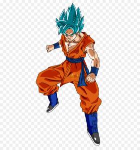 goku blue hair png