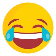 Laughing emoji no background