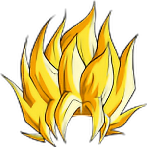 Super Saiyan 3 Hair PNG