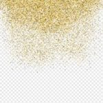 gold confetti background png