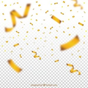 gold confetti png transparent