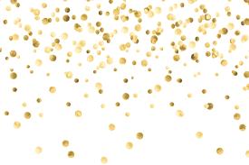 gold glitter confetti png