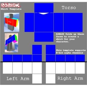 This is an image of roblox shirt template
