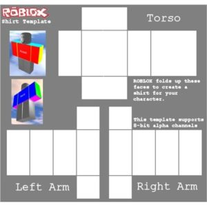 This is an image of roblox shirt template png