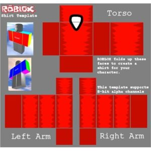 This is an image of transparent roblox shirt template