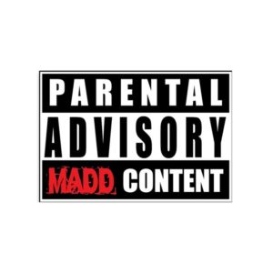 RED white Parental Advisory