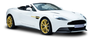 aston martin white car png