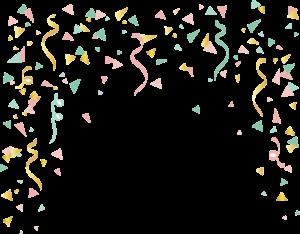 brithday confetti png