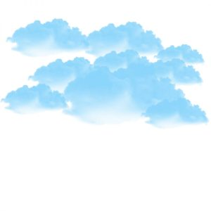 blue cloud png