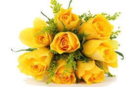bouquet rose yellow