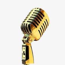 golden microphone png